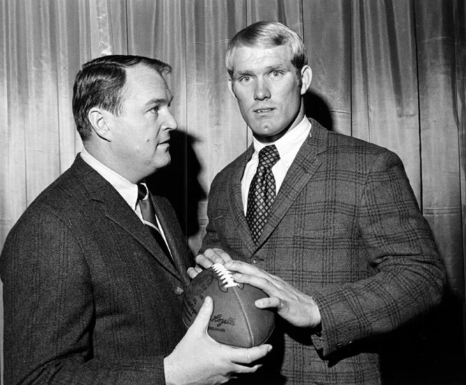 Chuck Noll y Terry Bradshaw